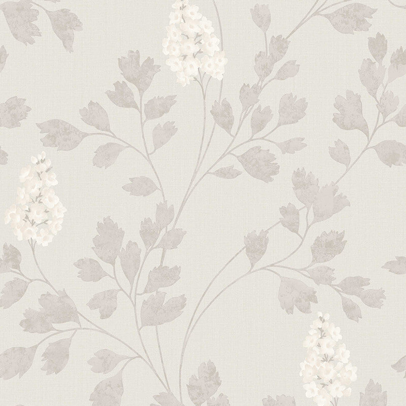 Arthouse Catalina Taupe Leaf Glitter Wallpaper - 292502