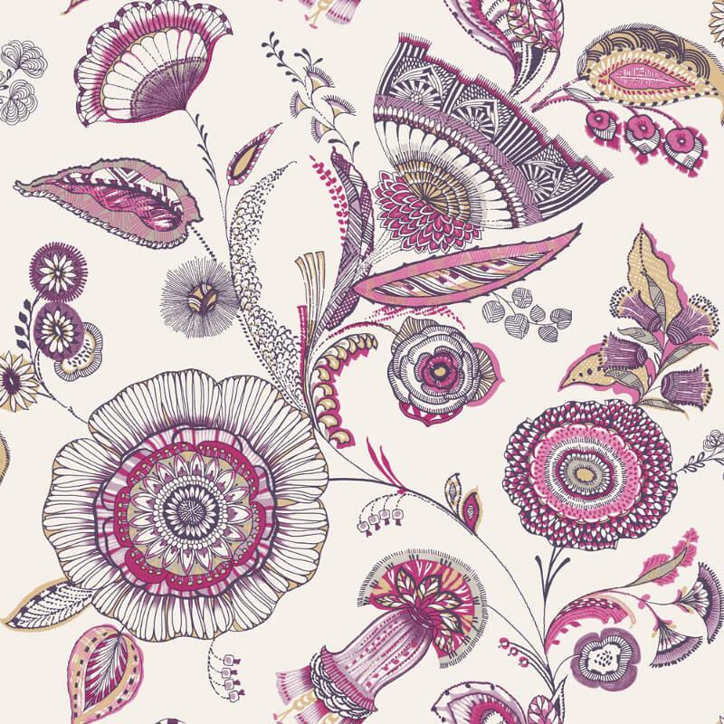 Arthouse Catarina Floral Plum Wallpaper - 690802