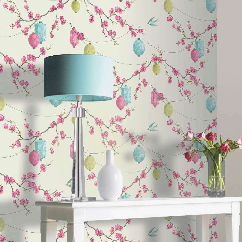 Arthouse Chinese Garden Pink Wallpaper - 695400 on
