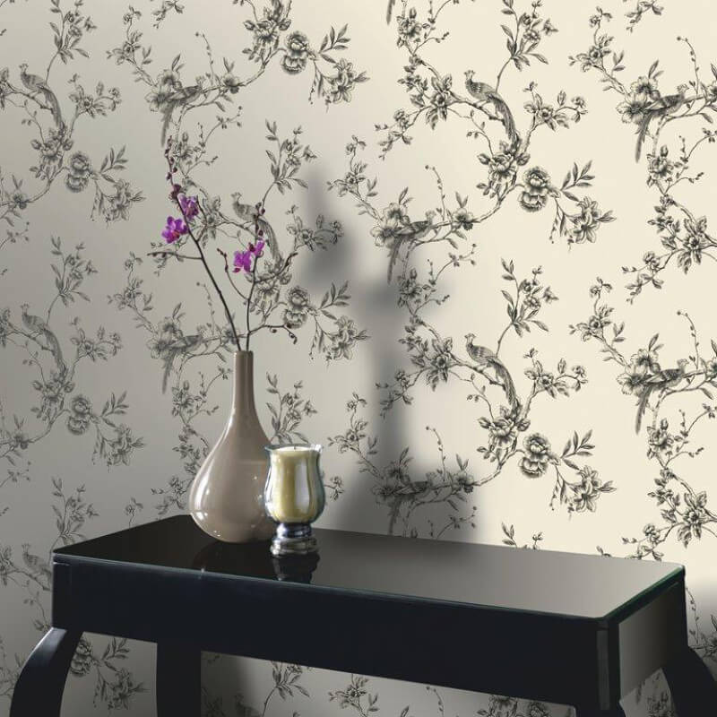 Arthouse Chinoise Wallpaper in Black - 422801