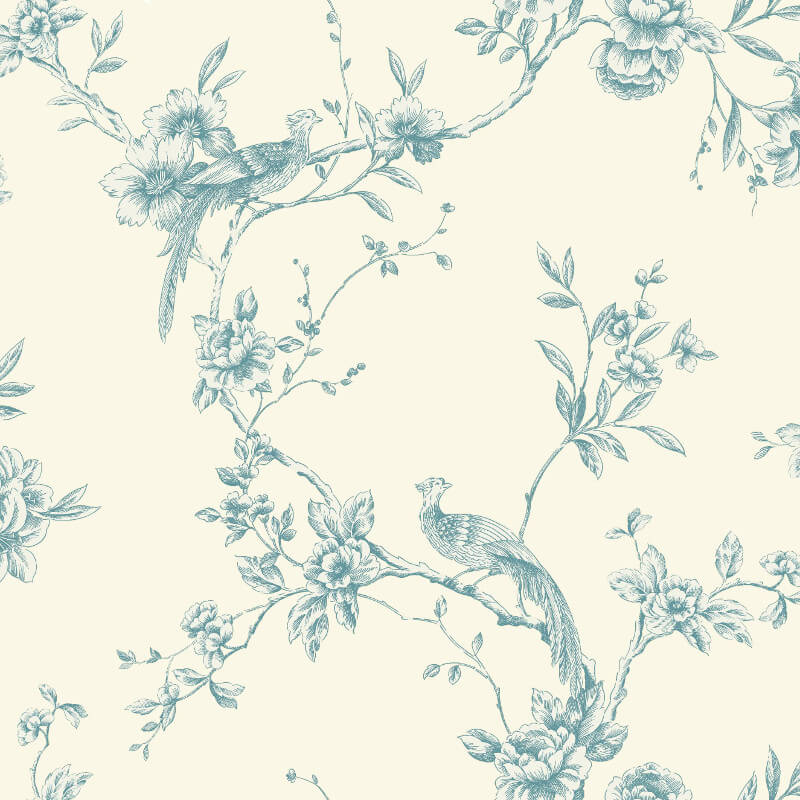 Arthouse Chinoise Wallpaper in Teal - 425003