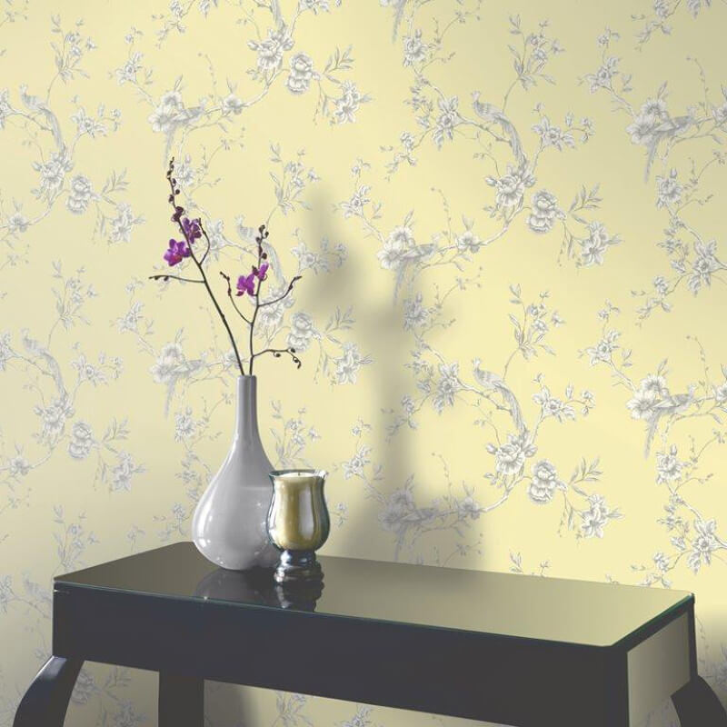 Arthouse Chinoise Wallpaper in Yellow - 422804