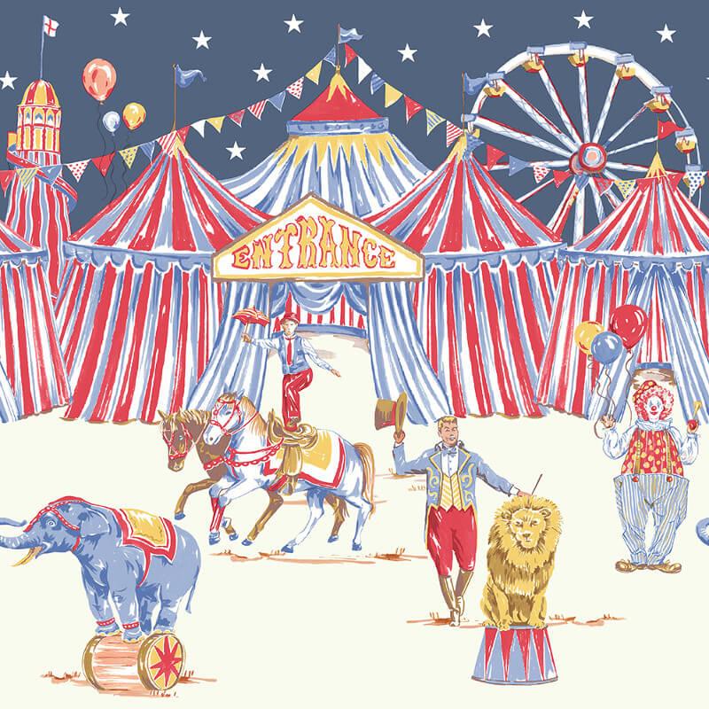 Arthouse Circus Fun Red/Blue Glitter Frieze - 696304