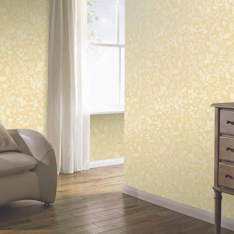 Arthouse Country Folk Yellow Wallpaper - 697301