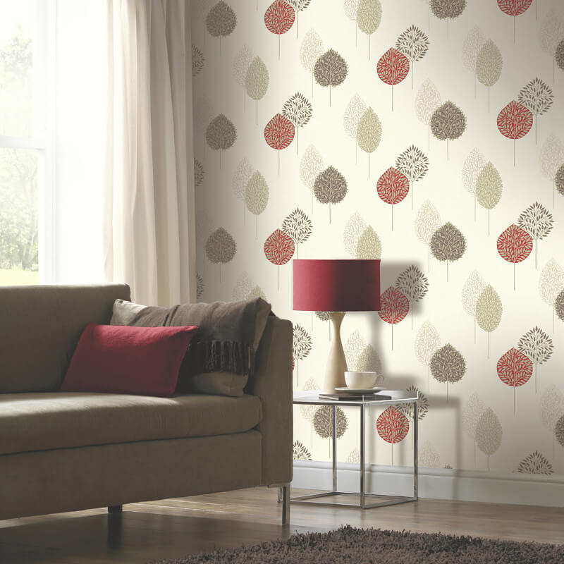 Dante Motif Arthouse Wallpaper In Red 884001