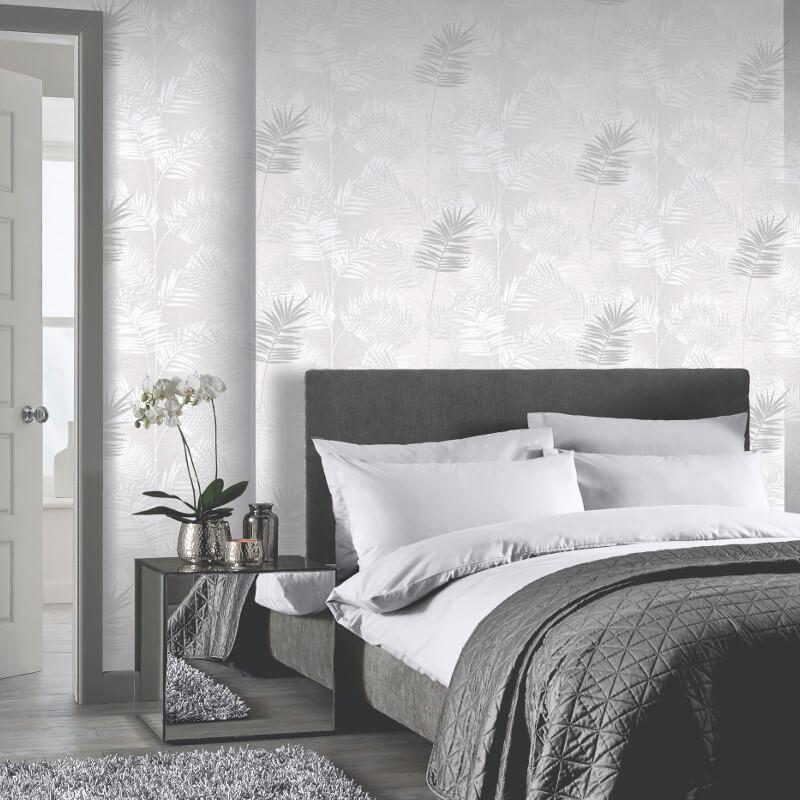 ... Arthouse Plain Silver Glitter Wallpaper 258006
