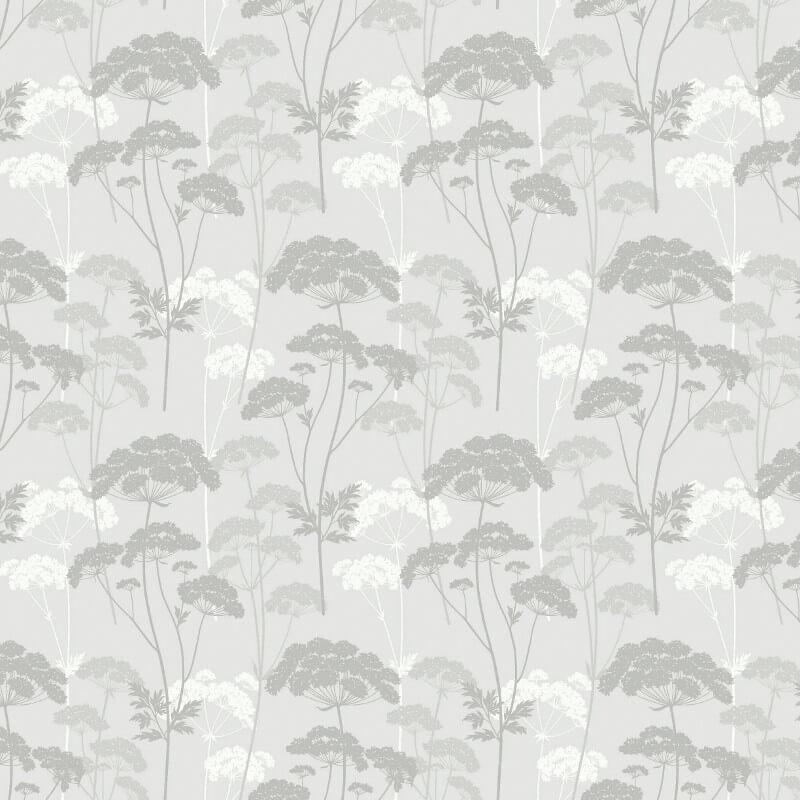 Arthouse Elderflower Leaf Dove Grey Glitter Wallpaper - 699503