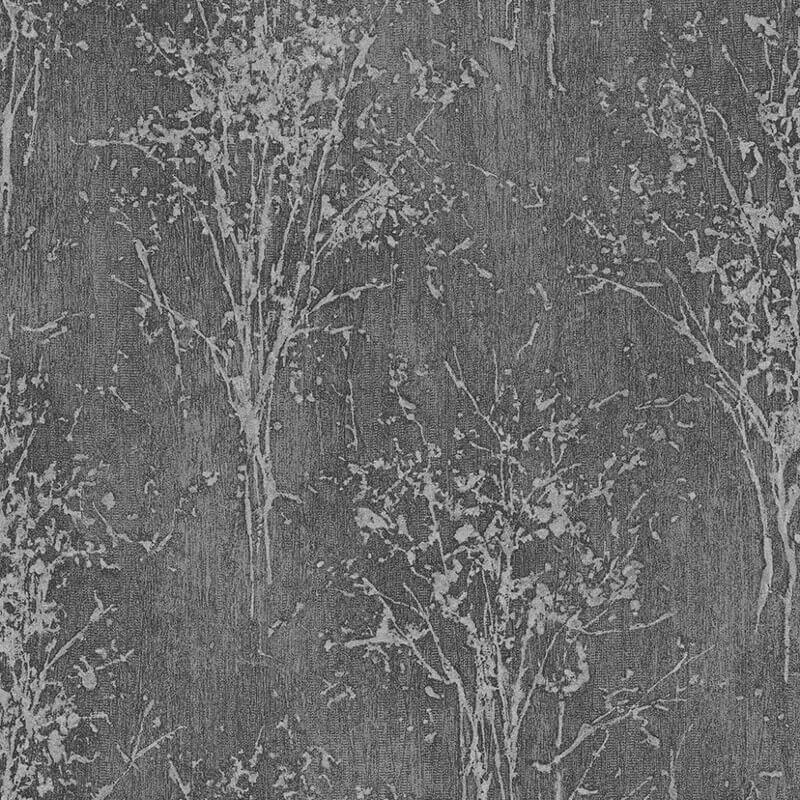 Arthouse Floresta Tree Black Glitter Wallpaper - 292700