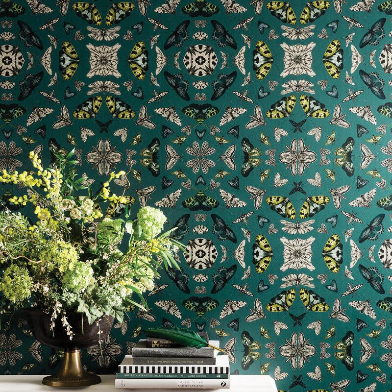 Arthouse Glitter Bug Emerald Glitter Wallpaper - 692309