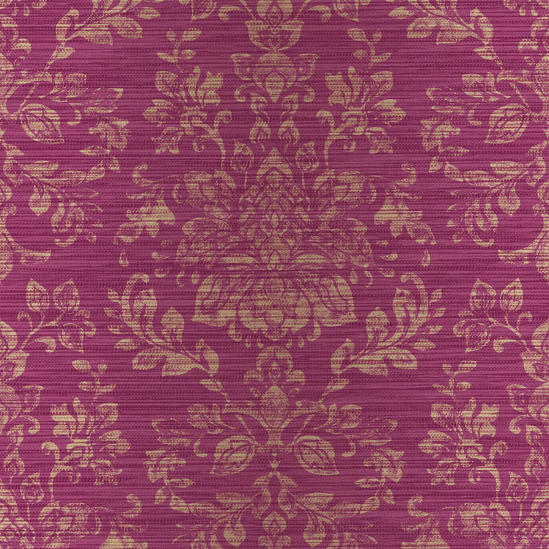 Arthouse Kyasha Damask Cranberry Pink Wallpaper - 293003
