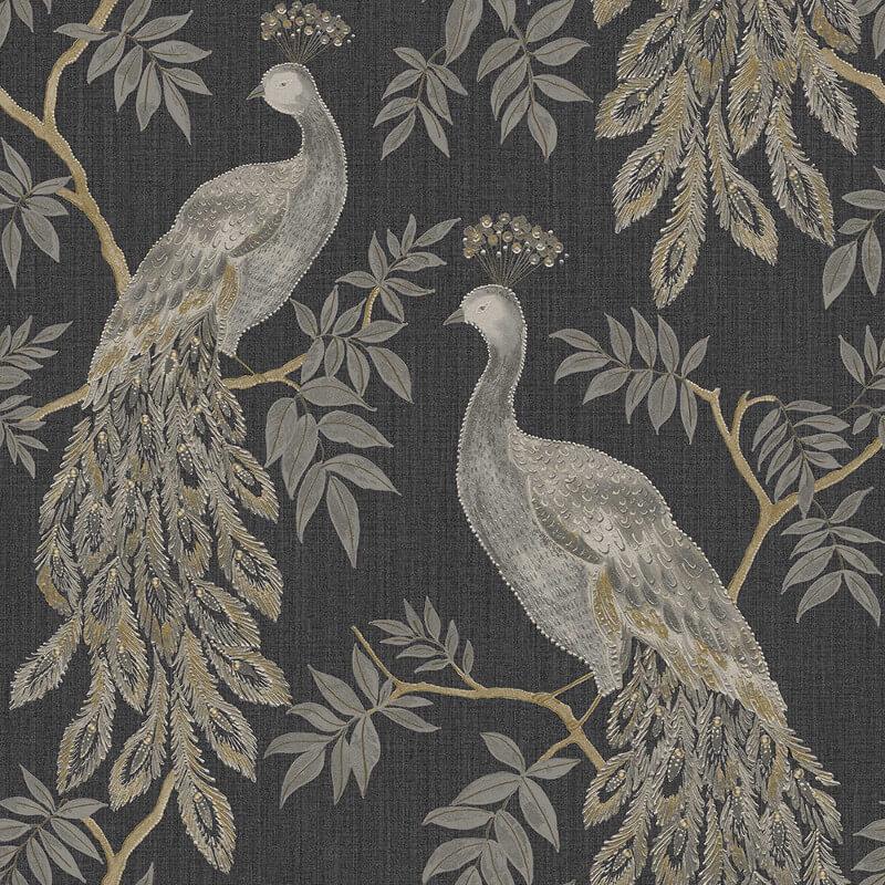 Arthouse Lazzaro Black/Gold Glitter Wallpaper - 292100