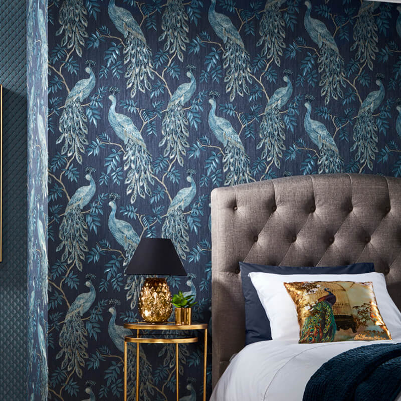 Arthouse Lazzaro Blue Glitter Wallpaper - 292101