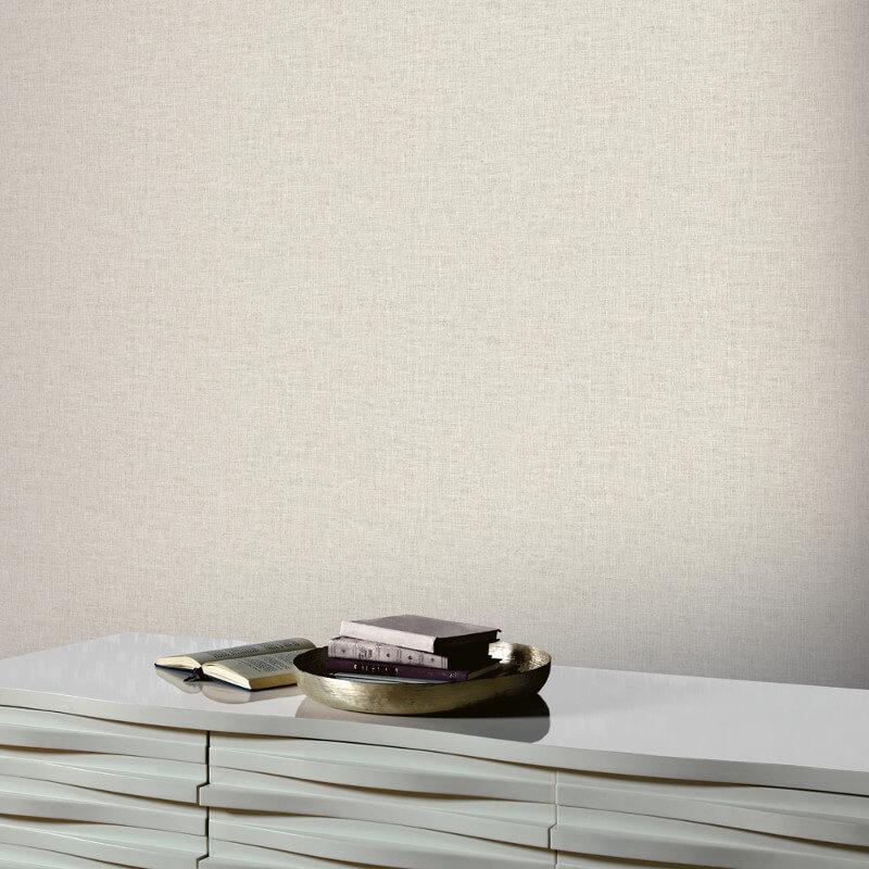 Arthouse Linen Texture Natural Wallpaper - 901704