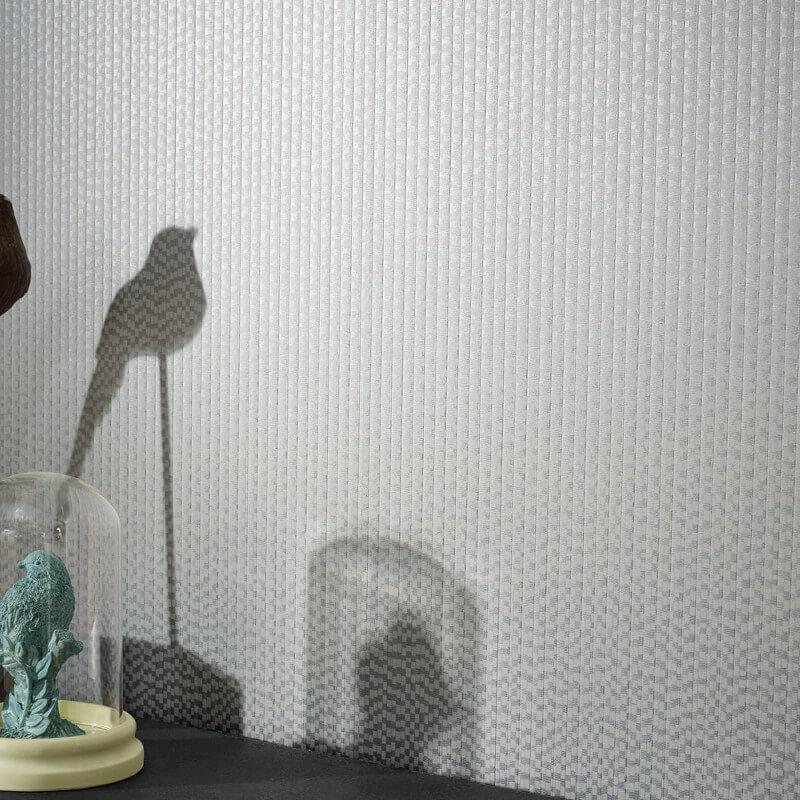 Arthouse Mei Plain Silver Wallpaper - 293108