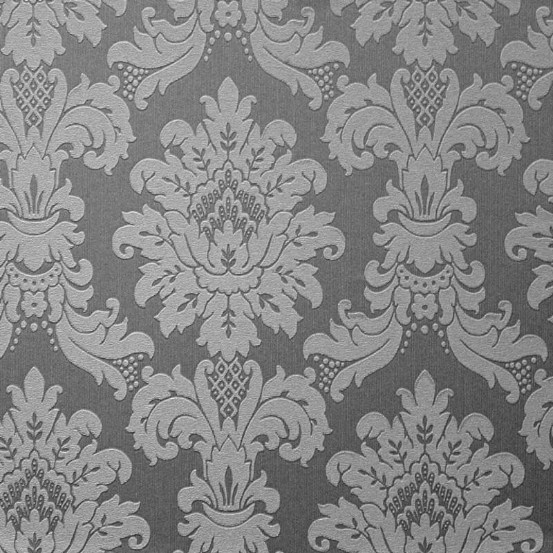 Arthouse Messina Damask Wallpaper in Silver - 261004