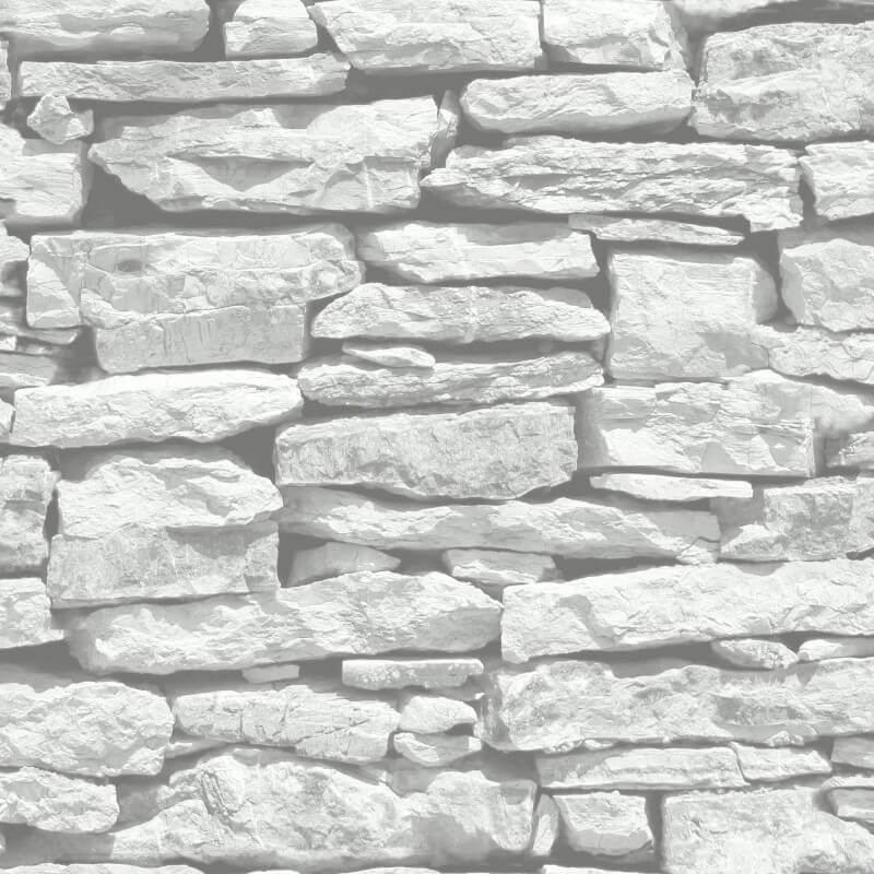Arthouse Moroccan Stone Wallpaper in White - 623009