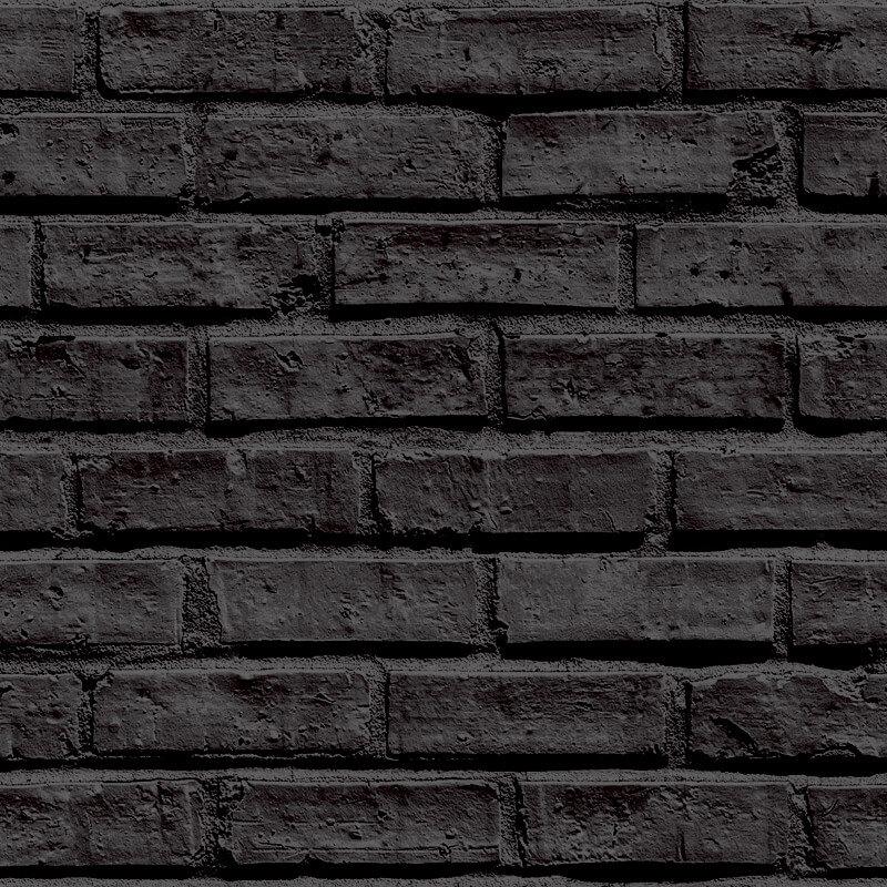 Arthouse VIP Brick Wallpaper in Black - 623007