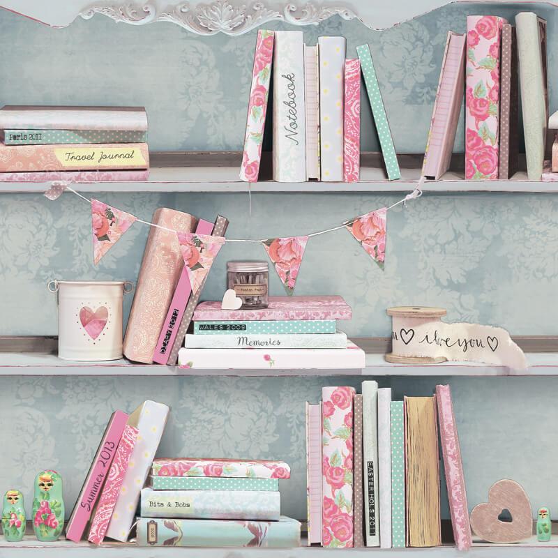Arthouse Opera Curious Bookcase Multi Wallpaper - 694000