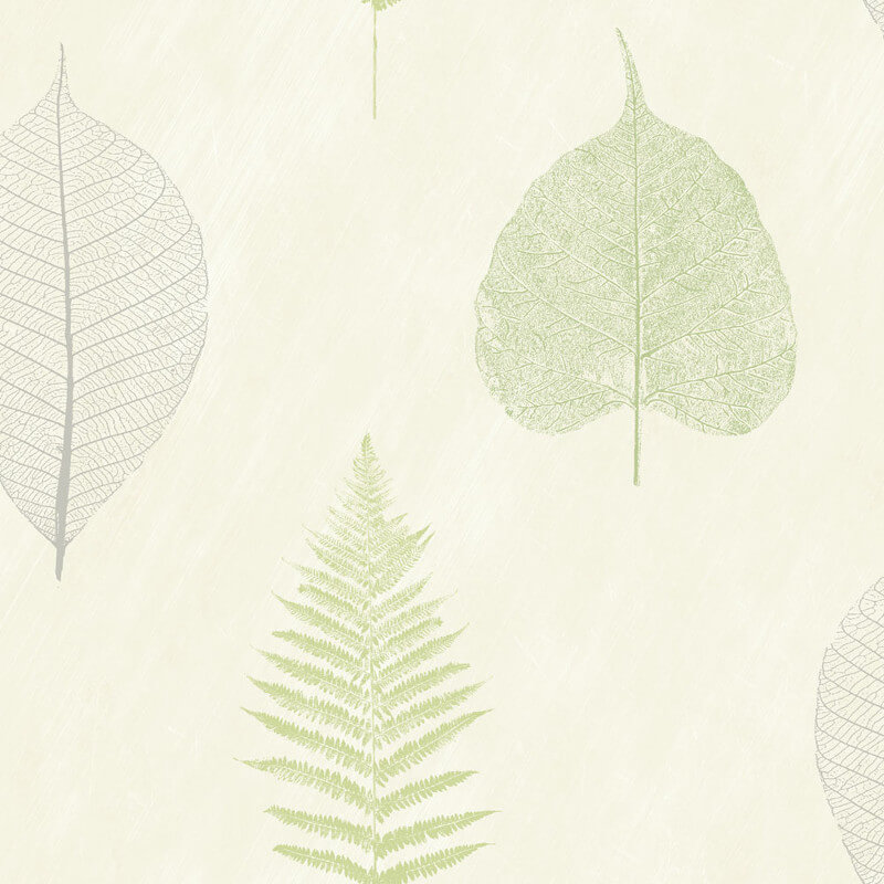 Arthouse Opera Leaf and Tree Wallpaper in Green - 693402