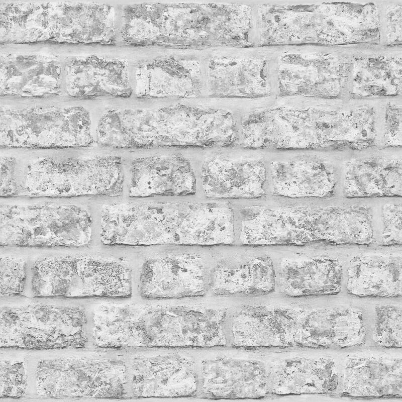 Arthouse Opera Rustic Brick Grey Wallpaper