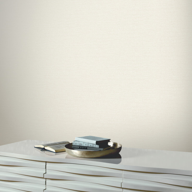 Arthouse Ophir Plain Wallpaper in Pearl - 673301