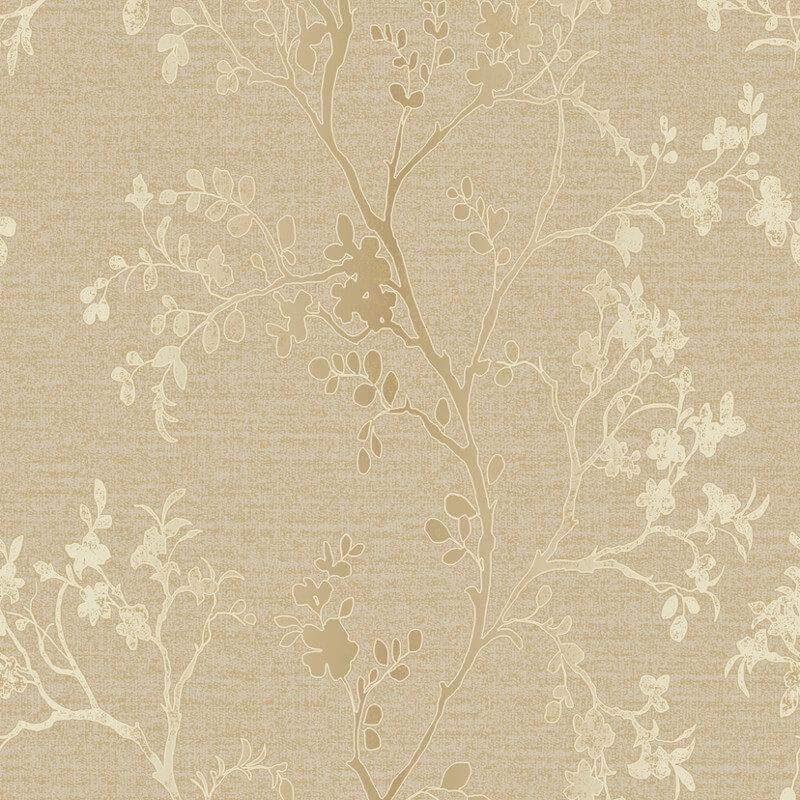 Arthouse Orabella Tree Glitter Wallpaper in Gold - 673401