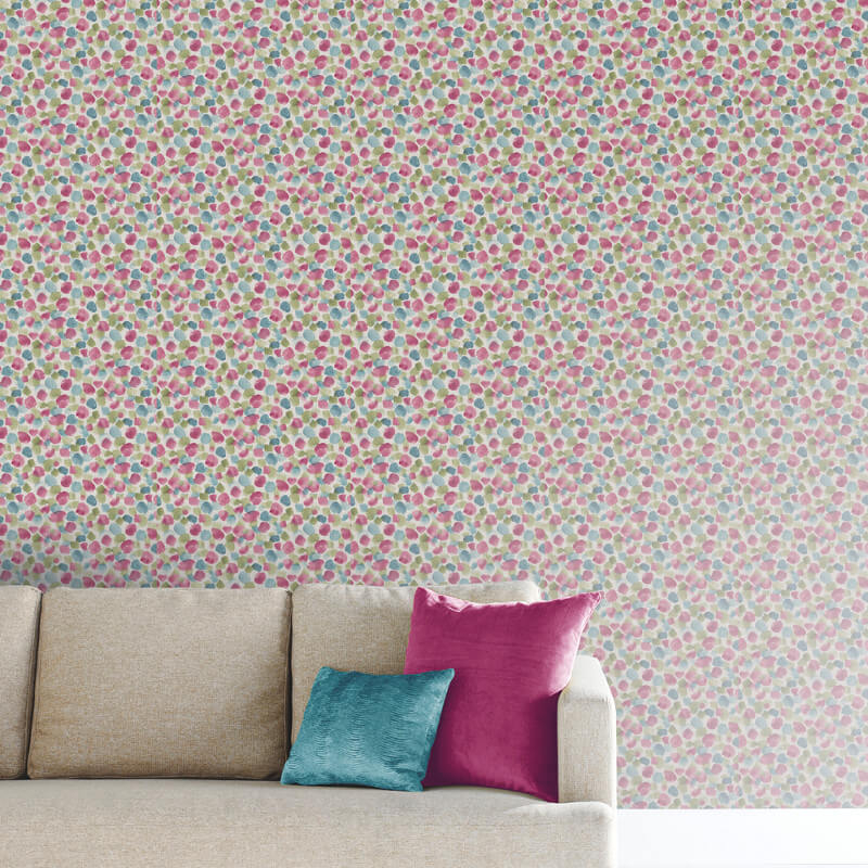 Arthouse Painted Dot Raspberry Wallpaper - 676201