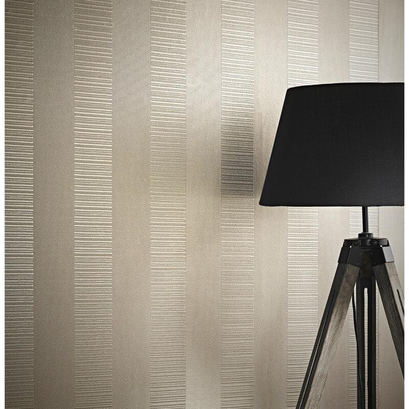 Arthouse Ravello Stripe Wallpaper in Taupe - 262003