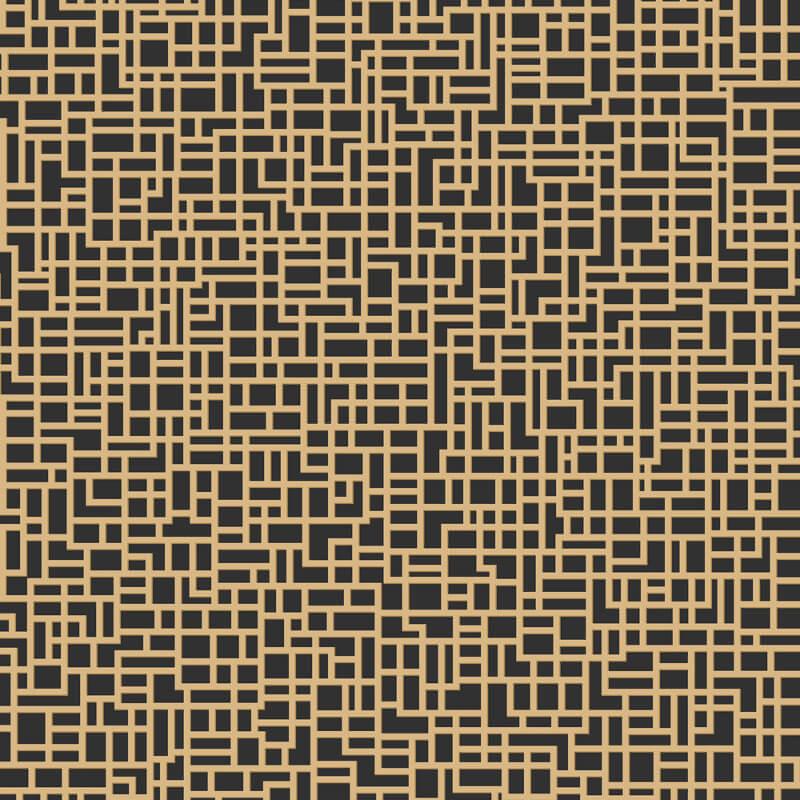 Arthouse Satoni Geo Black/Gold Wallpaper - 293009