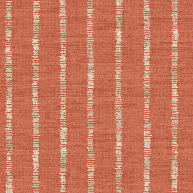 Arthouse Silk Road Stripe Terracotta Wallpaper - 610609