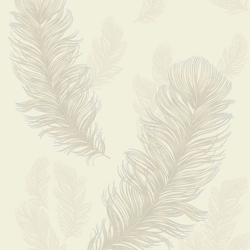 Arthouse Sirius Feather Glitter Wallpaper in Pearl - 673603