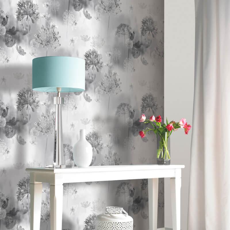 Arthouse Spring Meadow Mono Wallpaper - 697401