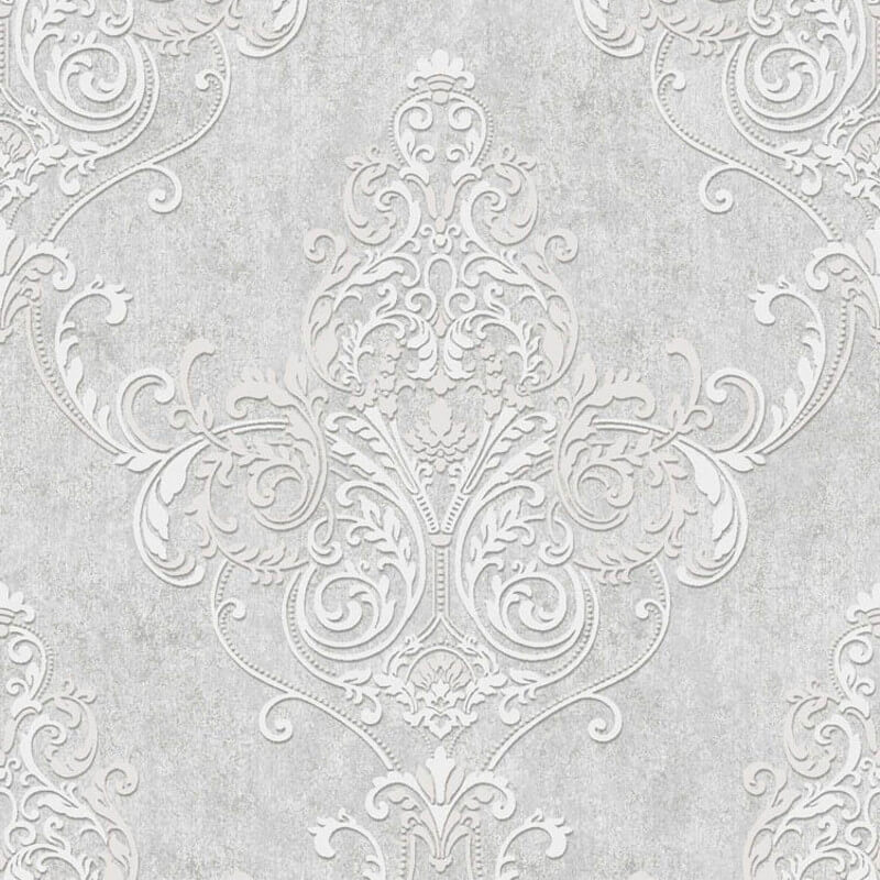 Arthouse Valdina Damask Lustre Grey Glitter Wallpaper - 292002