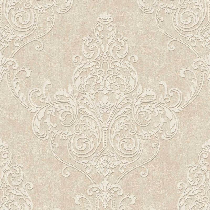 Arthouse Valdina Damask Taupe Glitter Wallpaper - 292003