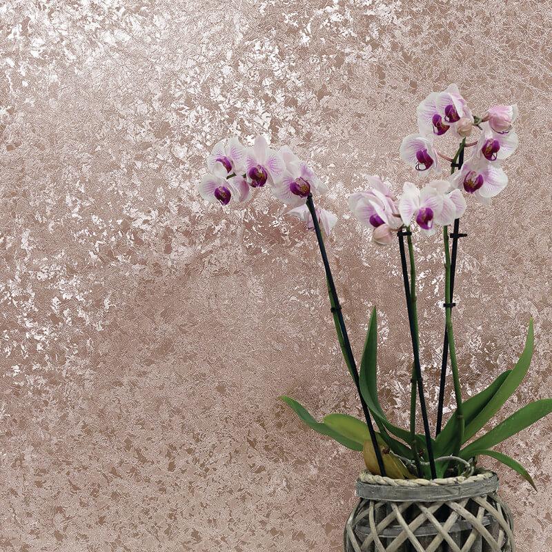 Arthouse Velvet Crush Rose Gold Foil Metallic Wallpaper - 294300