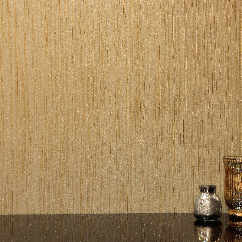 Arthouse Vicenza Plain Wallpaper in Gold - 270503