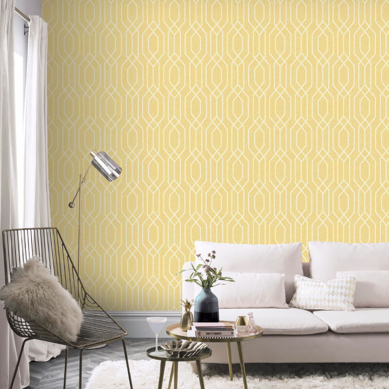 Arthouse VIP New York Geo Yellow Wallpaper - 908301