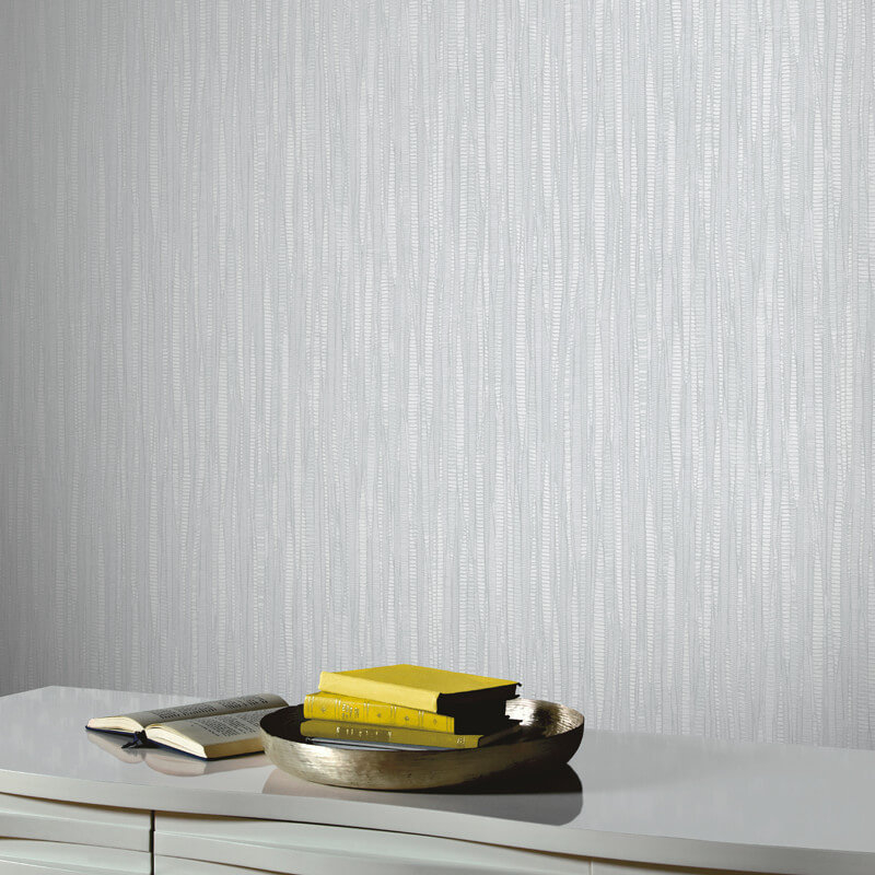 Arthouse Visconto Pewter Glitter Wallpaper - 292600