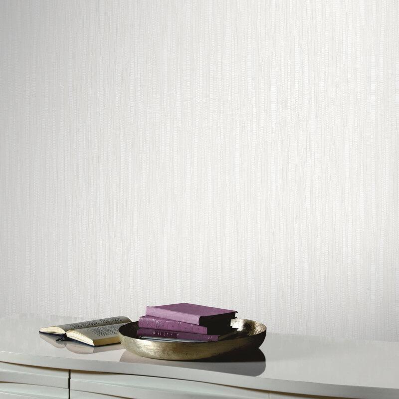 Arthouse Visconto White Glitter Wallpaper - 292604