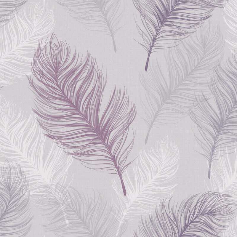 Arthouse Whisper Feather Wallpaper In Lavender