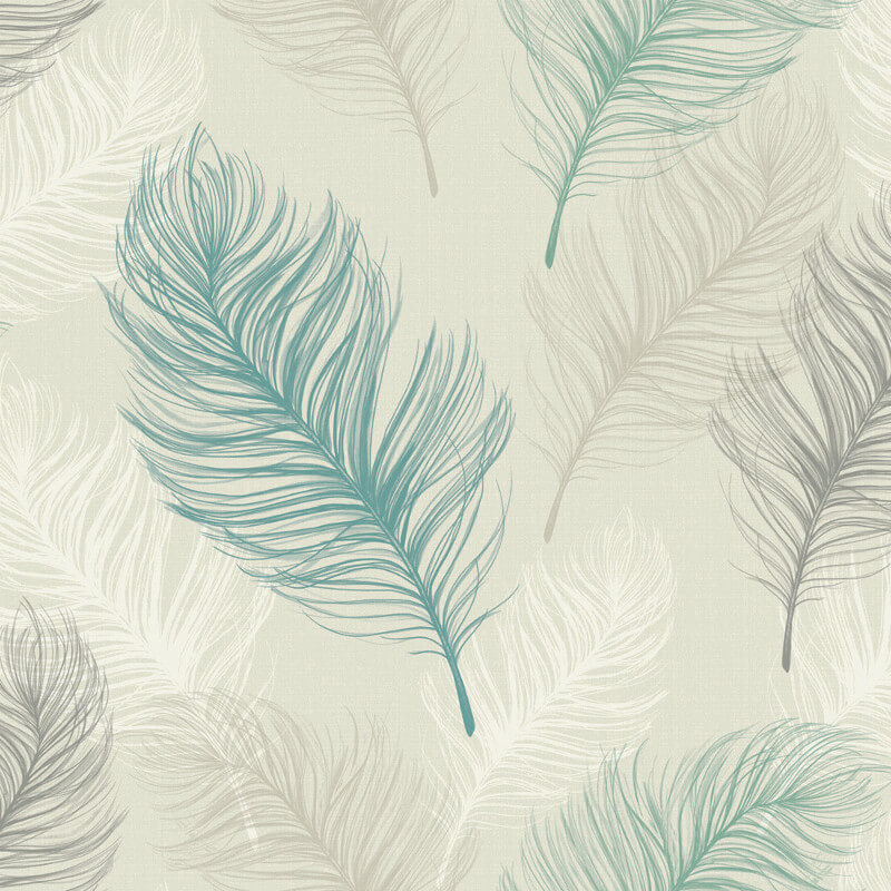 Arthouse Whisper Feather Wallpaper In Teal 669801 HD Wallpapers Download Free Images Wallpaper [1000image.com]