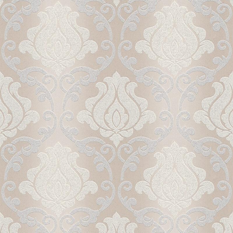 AS Creation Omega Damask Beige Glitter Wallpaper - 34860-2
