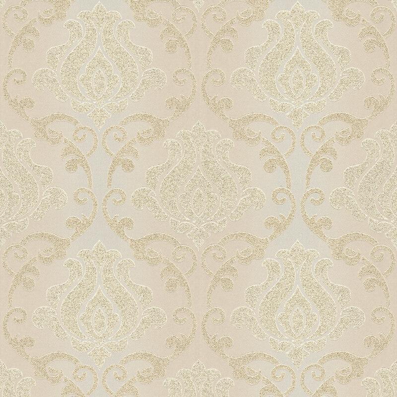 AS Creation Omega Damask Cream Glitter Wallpaper - 34860-1