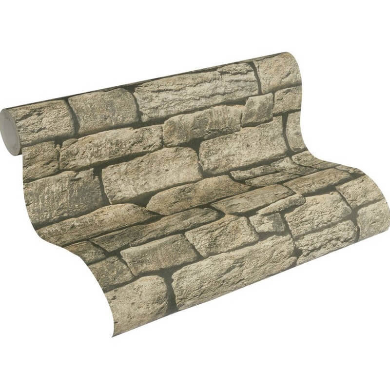 AS Creation Dry Stone Wall Natural Wallpaper - 307221