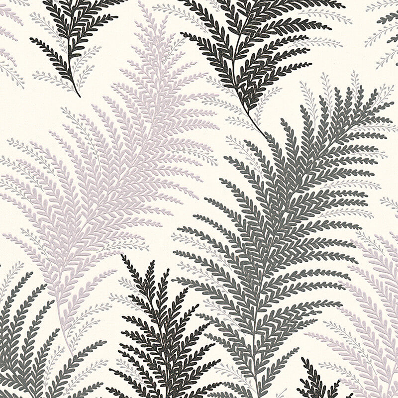 AS Creation Floral Leaf Black/Silver Glitter Wallpaper - 30508-2