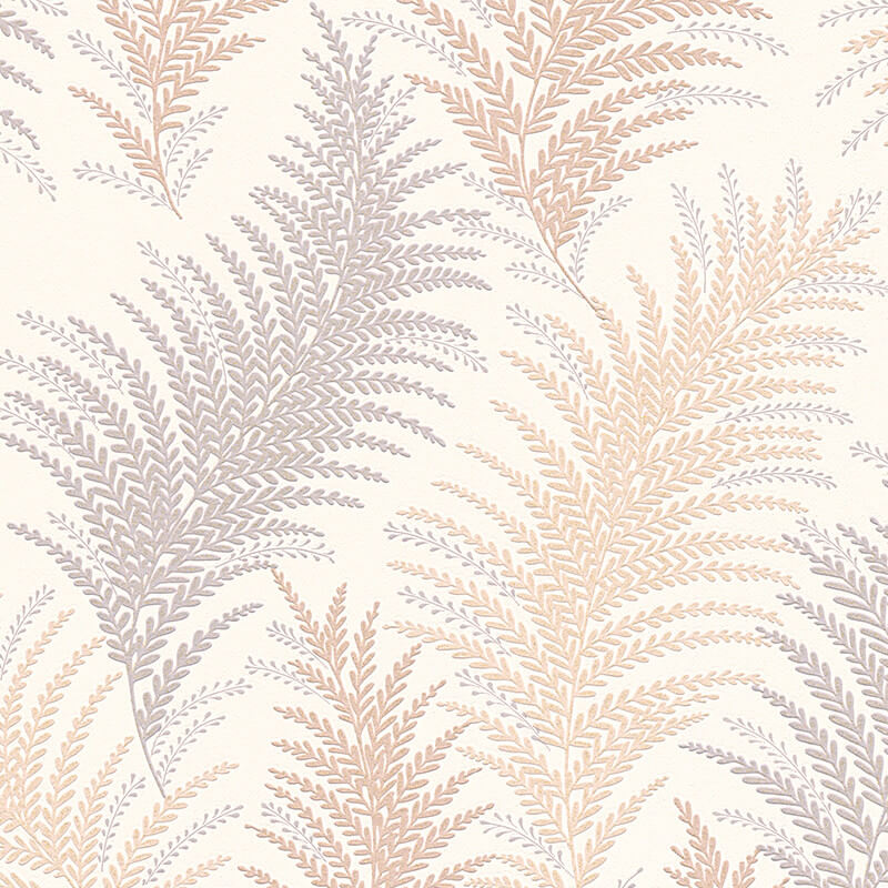 AS Creation Floral Leaf Gold/Silver Glitter Wallpaper - 30508-1