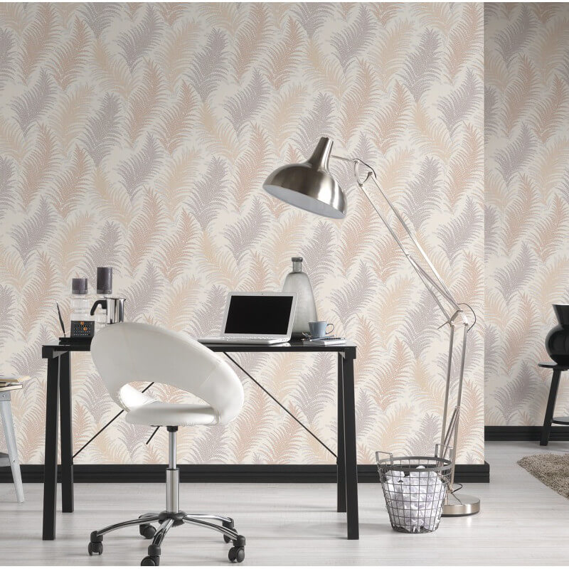 AS Creation Floral Leaf Gold/Silver Glitter Wallpaper - 305081