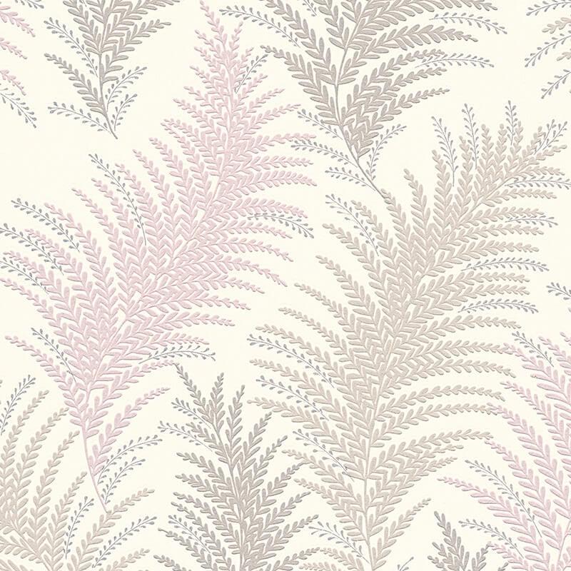 AS Creation Floral Leaf Grey/Silver Glitter Wallpaper - 305083