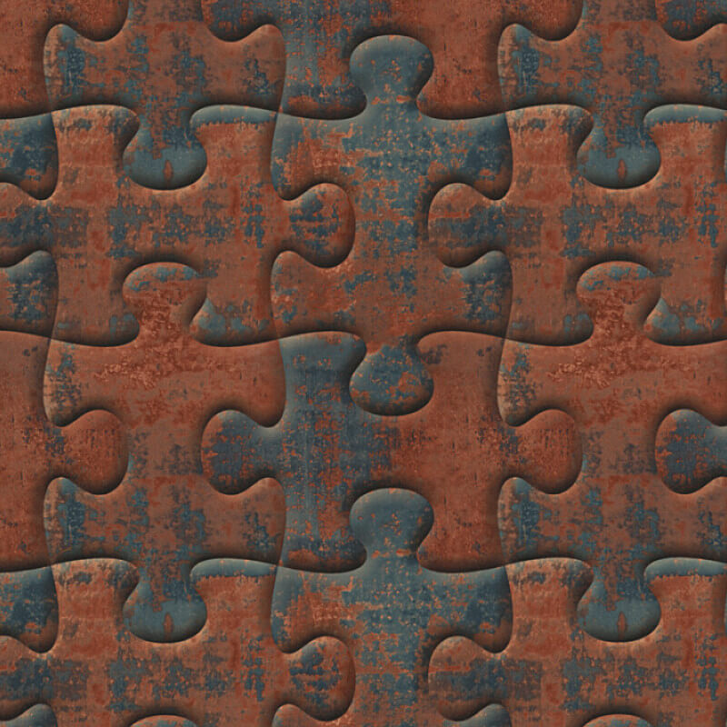 AS Creation Jigsaw Puzzle Brown Wallpaper - 32703-1