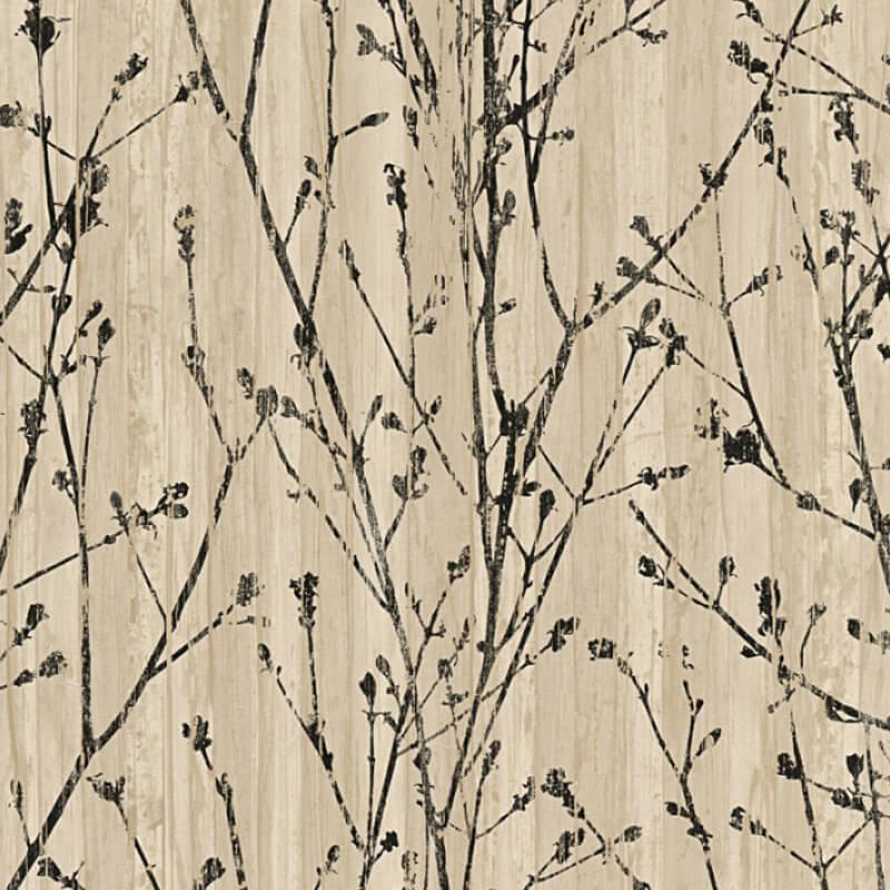AS Creation Leaf Branch Beige/Black Wallpaper - 32713-3